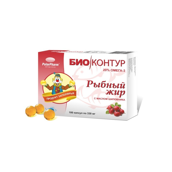 BioKontur Kalaõli (kibuvits) kapslid N 100 (рыбный жир шиповник)